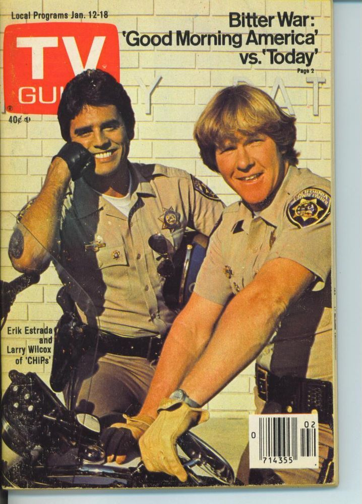 CHICAGO TV GUIDE 1-12-1980 CHIPS~LARRY WILCOX~ANN WEDGEWORTH~BREAKFAST VIEWERS