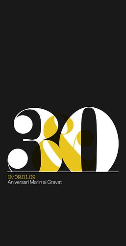#Poster by Quim Marin (2009) #design #font #print #graphic_design #graphicdesign