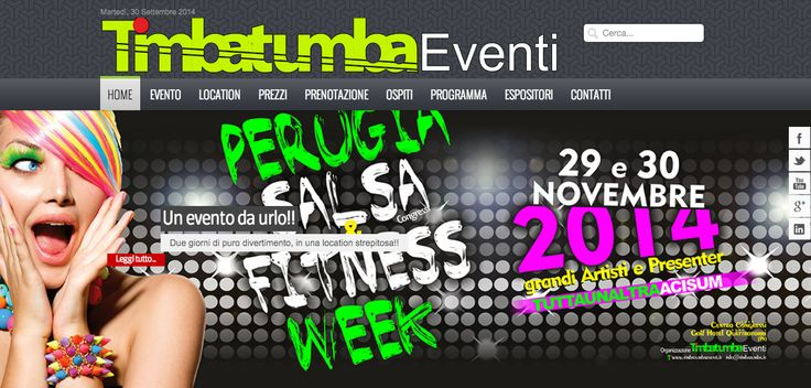 Realizzazione sito eventi TimbaTumba: http://www.timbatumbaeventi.it/ Settore Eventi.