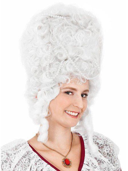 "https://11ter11ter.de/17447330.html Damen Perücke ""Madame Pompadour"" mit Löckchen und Perlen #11ter11ter #haare #perücke #locken #perlen #fasching #karneval"