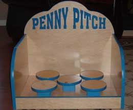 Pitch or toss a penny, nickel, dime or a quarter and stick the landing on one of 5 platforms to win this game.