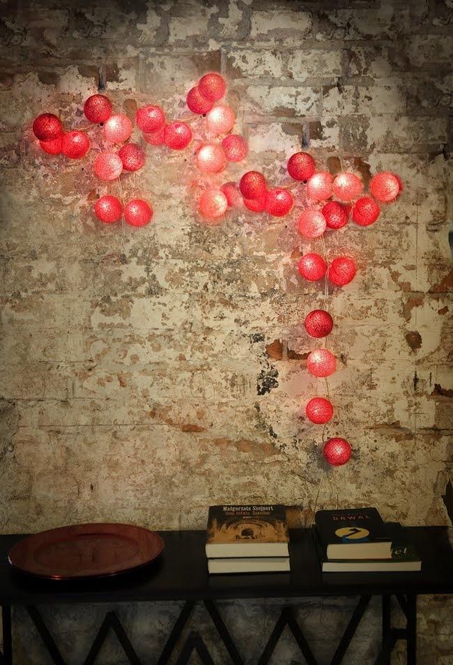 Red Cotton Ball Lights