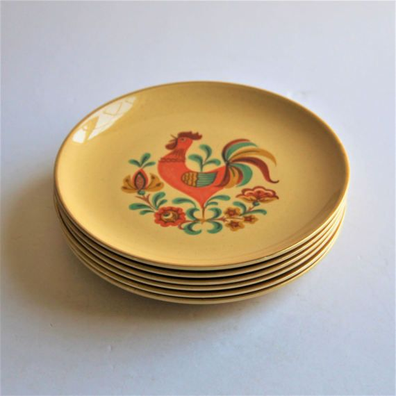1960s Taylor Smith & Taylor Reveille gold rim bread and