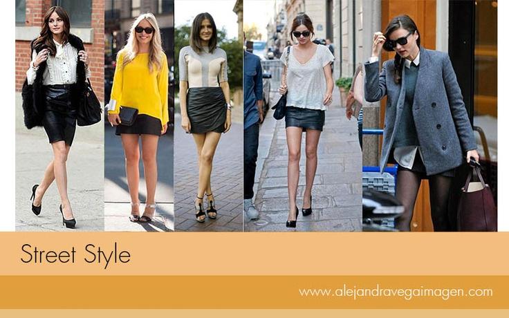 Para un look más formal puedes acompañar tu falda con una camisa de cuello. Este tipo de looks pueden ser una buena opción para salir a comer. Aquí les dejo algunas ideas.