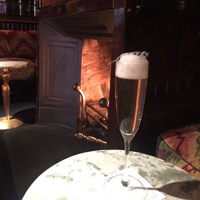 Cocktails by the fire at the Chiltern Firehouse