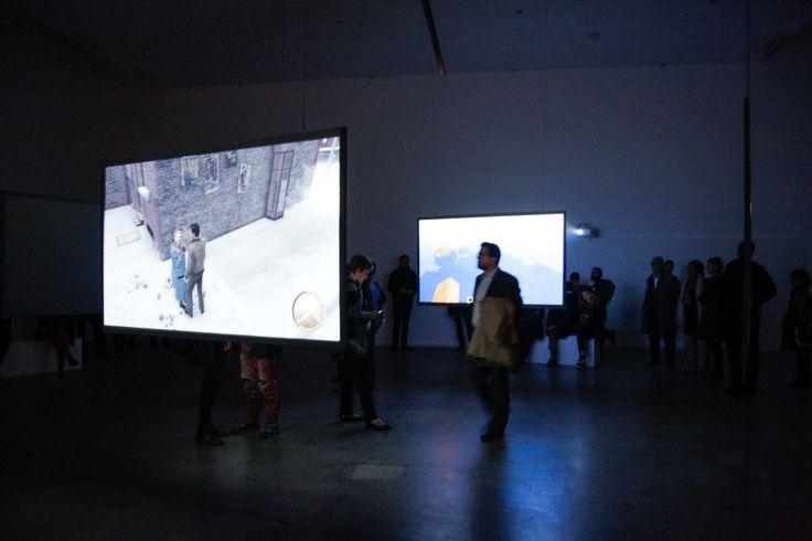 Harun Farocki – Parallel I-IV - exhibition view at Fondazione Sandretto Re Rebaudengo, Torino 2016 - photo Daniele Bottallo