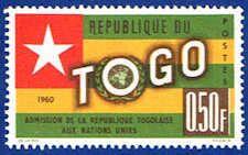 Flag & Emblem Stamp - Togo #387 Stamp - AF TG 387-1