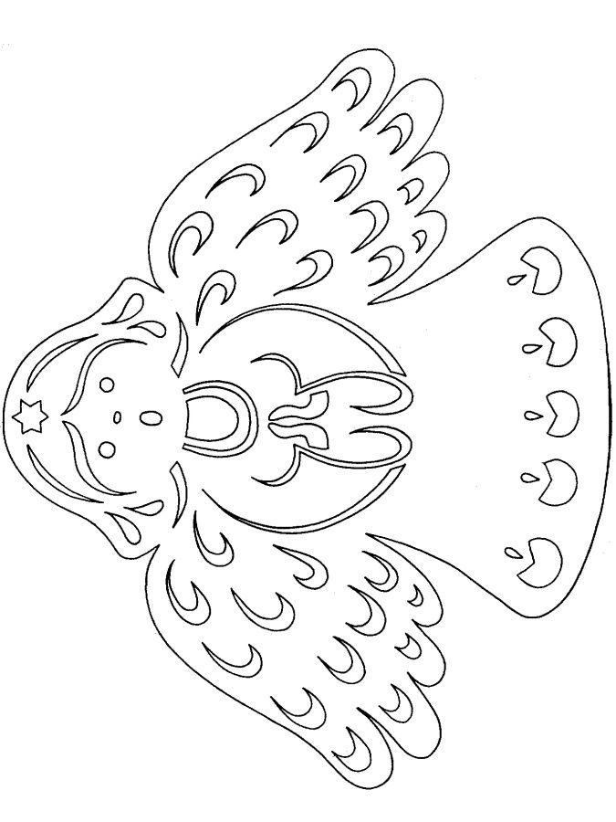 vánoční vystřihovánka andílek