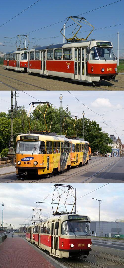 Famous Tatra T3R tram (1962). Modernized type T3R.P. It is used still today in many European countries #tram #Czechia #transportation