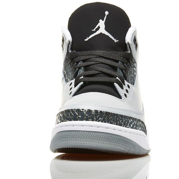 best website 5b7e9 e0769 air jordan 13 negro blanco fábrica de venta  An Official Look At The  Wolf  Grey  Air Jordan 3 Retro ❤ liked on