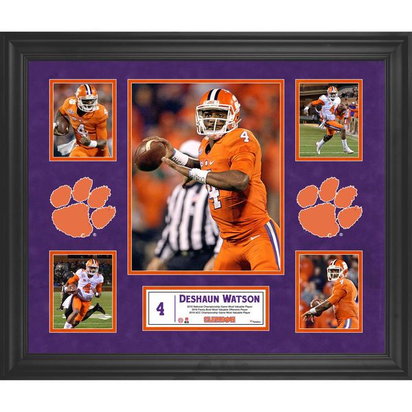 "Deshaun Watson Clemson Tigers Fanatics Authentic Framed 23"" x 27"" 5-Photo Collage - $129.99"