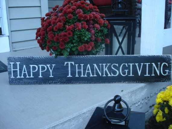 Happy Thanksgiving sign handpainted on a piece by Twoheartssigns, $22.95