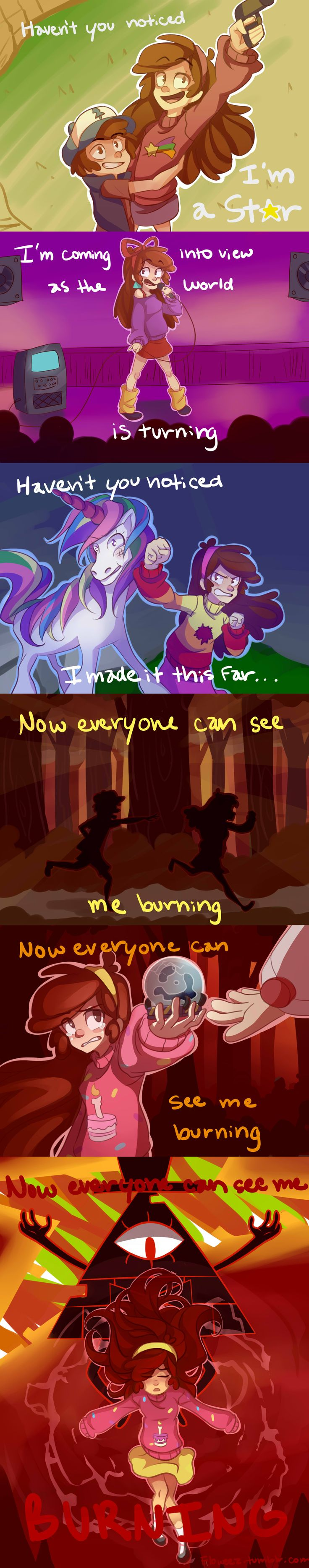 """floweez:  I'm pretty sure someone has already done this, but…   """"Mabel's Song""""   Based off """"Sadie's Song"""" from Steven Universe."""