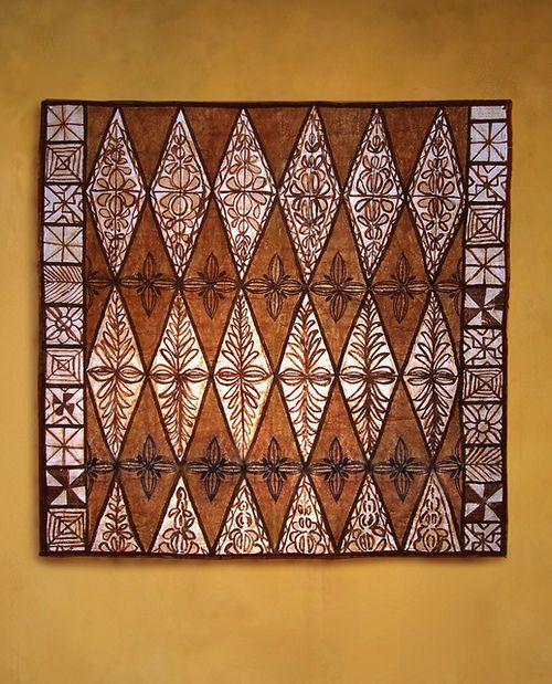 Tongan tapa cloth with Kalou design by tapapacifica on Flickr.Tongan Ngatu(tapa Cloth)