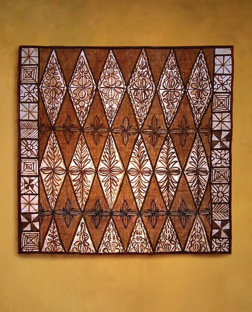 Tongan tapa cloth with Kalou design by tapapacifica on Flickr.Tongan Ngatu(tapa Cloth)