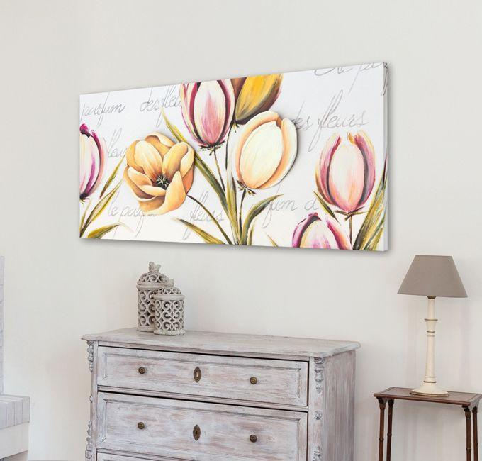 #PINTDECOR #quadro #design #arredo #arte #madeinitaly #flowers #tela #collezione2016 provence #shabby #elegance #white