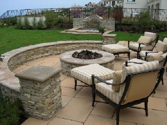 fire pit, seating
