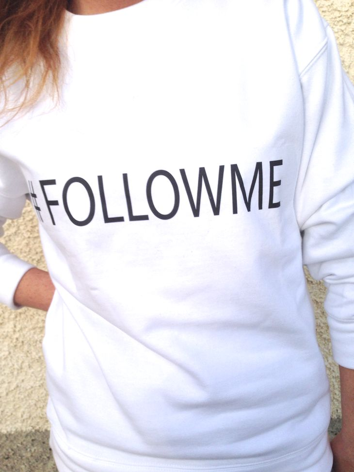 #followme #sweatshirt #gilr #white #sporty #fashion #style #felpa #hashtag #ffashionblogger #felpe #outfit #felpa #hashtag #followme #bianco tshirt , sweatshirt, outfit sporty fashion napoli brand #001, amanda marzolini the fashionamy blog, fashion blogger ...