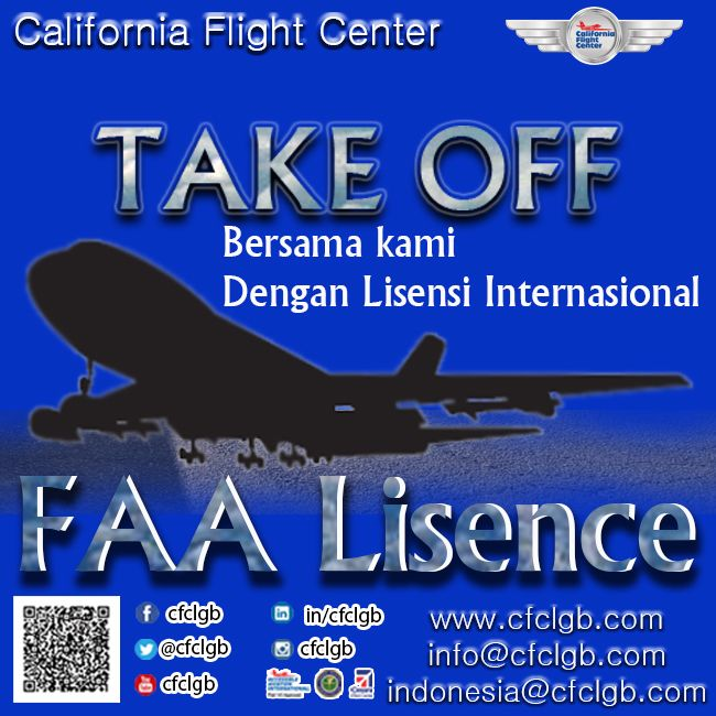 #californiaflightcenter take off with FAA lisensi