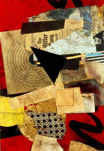 Kurt Schwitters  hey is that chair caning? in a picture other than 'still life with chair caning? what what what???