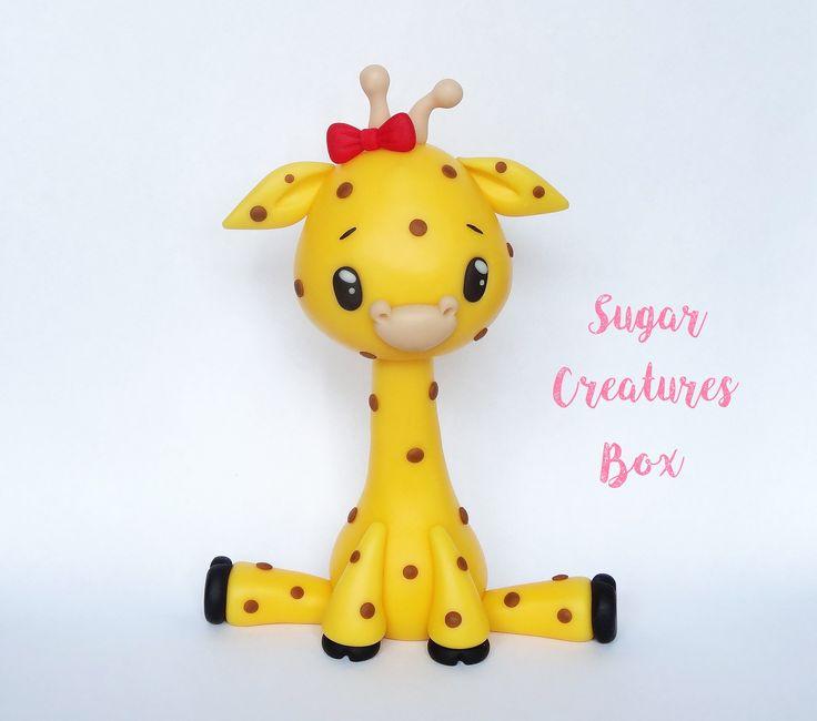 Żyrafa - figurka na tort Giraffe cake topper