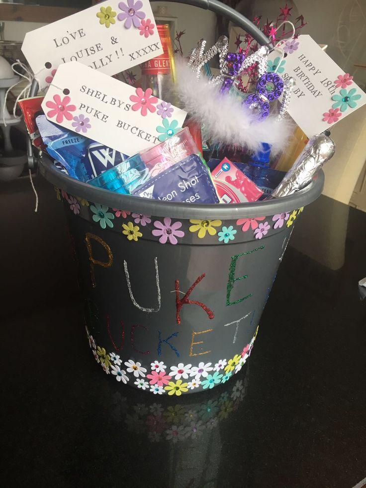 18th birthday. Puke bucket.