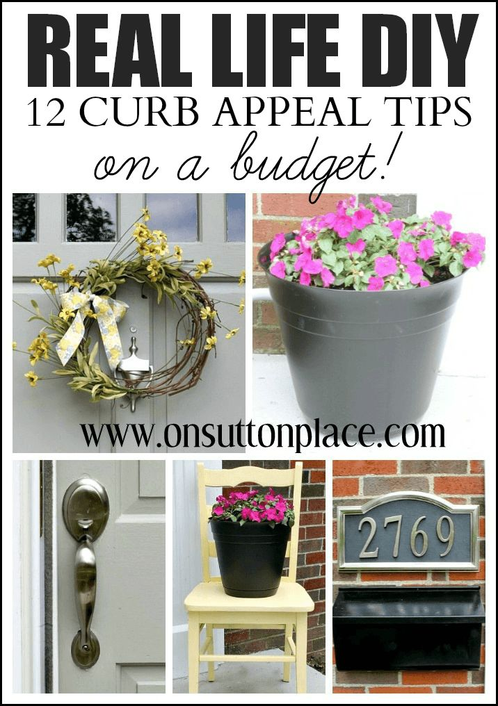 A list of 12 DIY Curb Appeal Tips that anyone can do to spruce up their home. Easy and budget-friendly!