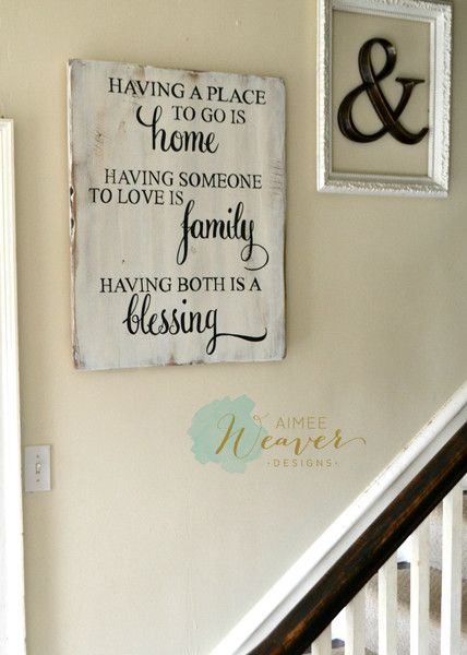 """""""Having a place to go is home"""" Wood Sign 24x30 {customizable}"""