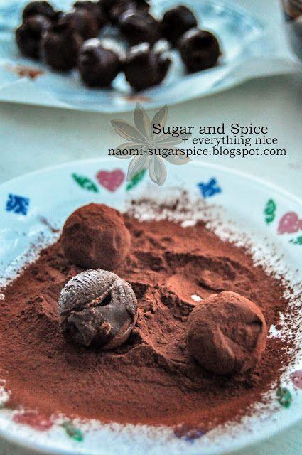 Dark chocolate truffles | Sweets To Make | Pinterest