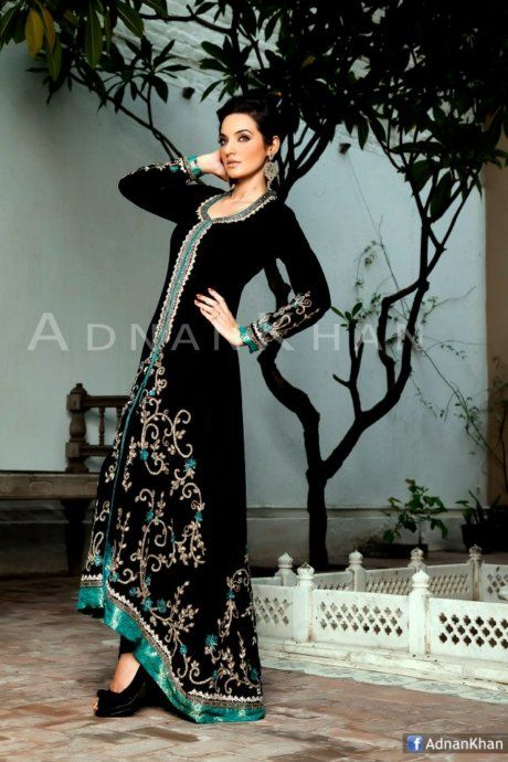 Designer-Adnan-Khan-Wedding-wear-Frock-Lehnga-Long-Shirt-with-churidar-for-women_06.jpg 460×690 pixels