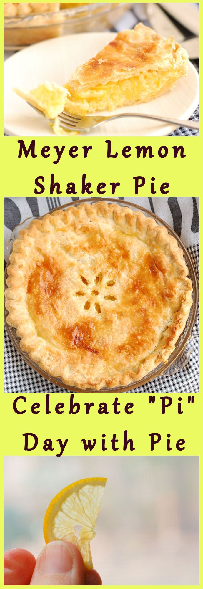Meyer Lemon Shaker Pie is sooo delicious and has just a few ingredients. If you LOVE lemon, this is for you.