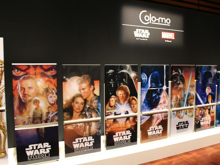冷蔵庫用の着せ替えパネル。スター・ウォーズはエピソード1からエピソード6まで網羅する Colo-mo,  Star Wars Refrigerator Changeable Panel by Haier.