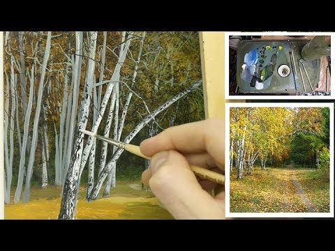 #71 How to Paint Silver Birch trees! | Michael James Smith - YouTube
