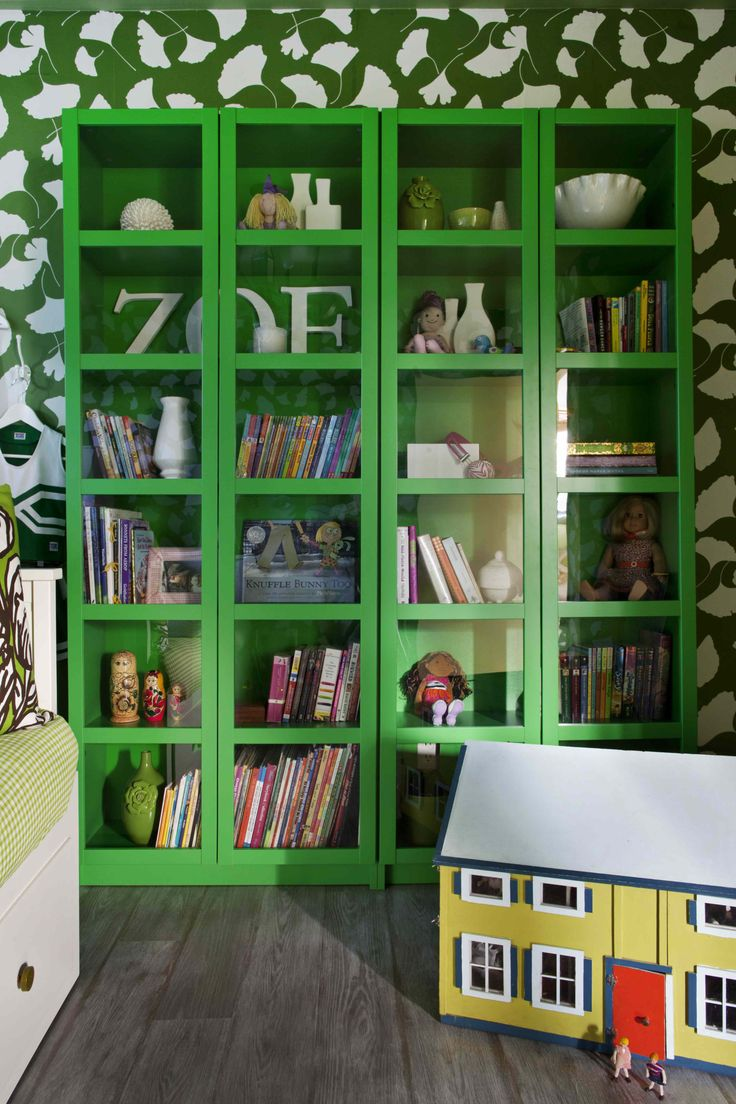 When you come across kelly green bookshelves at IKEA that are $59.99, it is very smart to get them.