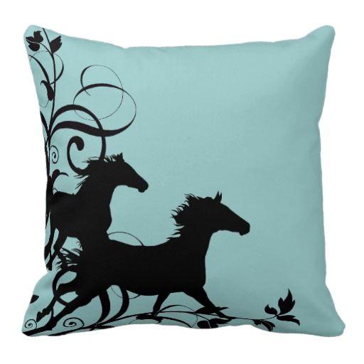 Horse silhouette pillows