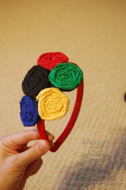 Olympics Rosette Headband Tutorial {Guest Post} | Skip To My Lou