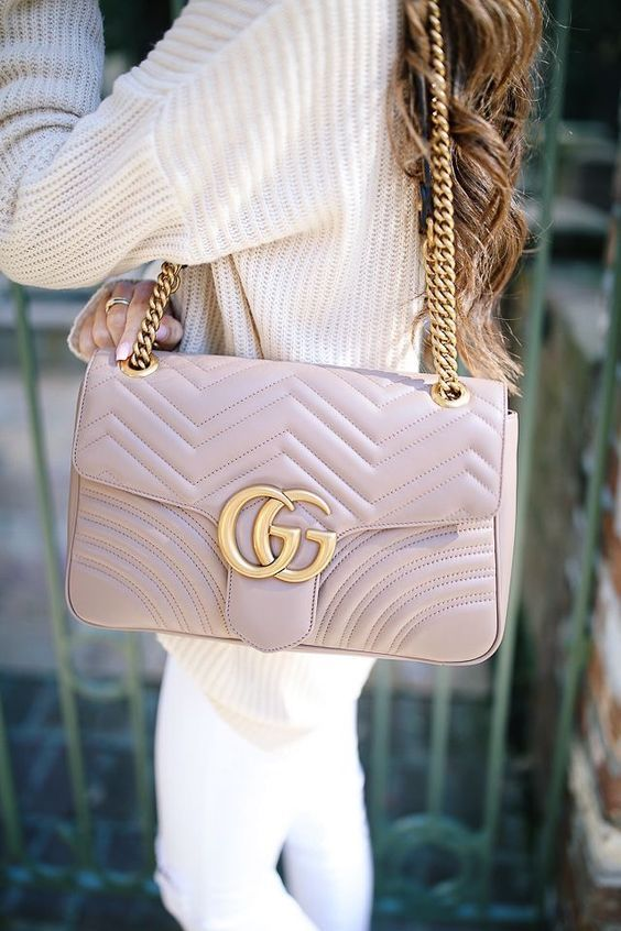 e557b4cc361d ✧GUCCI✧ GG Marmont Large Chevron Quilted Leather Shoulder Bag #designerbag  #fashion #fashionista