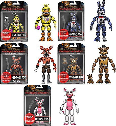 Original Funko 5inch Five Nights At Freddy's Nightmare Edition CHICA FREDDY BONNIE FOXY GOLD FREDDY Collection - $66.69 -What a day..this makes me happy, and u? #fun #me #crisp #reminiscing #toystores #swag #instamoment #ToySoldiers #educationaltoys #rubbertoys #toyscollectors #naturaltoys #rainbowtoys #biz #childrenstoys