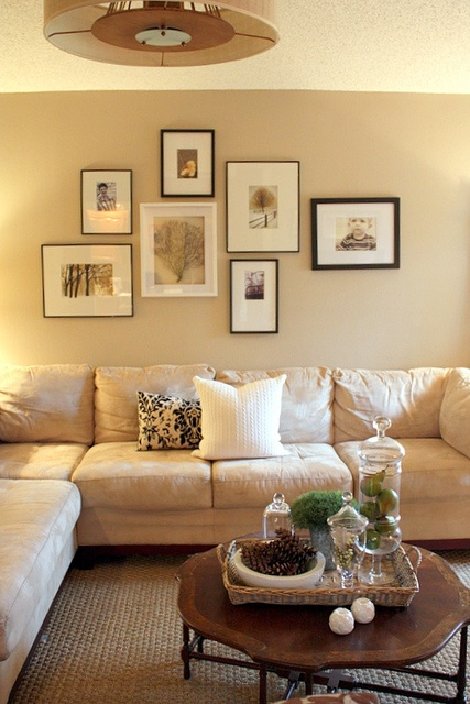 Like the collection if art over the couch instead of one big piece