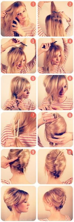 DIY Hair | FRENCH TWIST CHOPSTICK TRICK :: A little texture, teasing &...chopsticks! Who knew! Genius! | #frenchtwist #thebeautydept #updos
