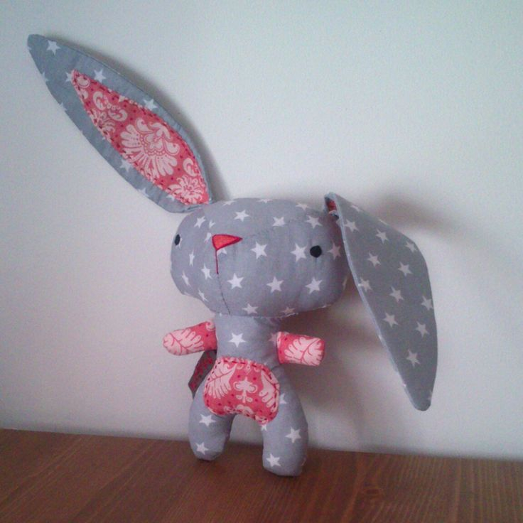 Fabric bunny patchwork