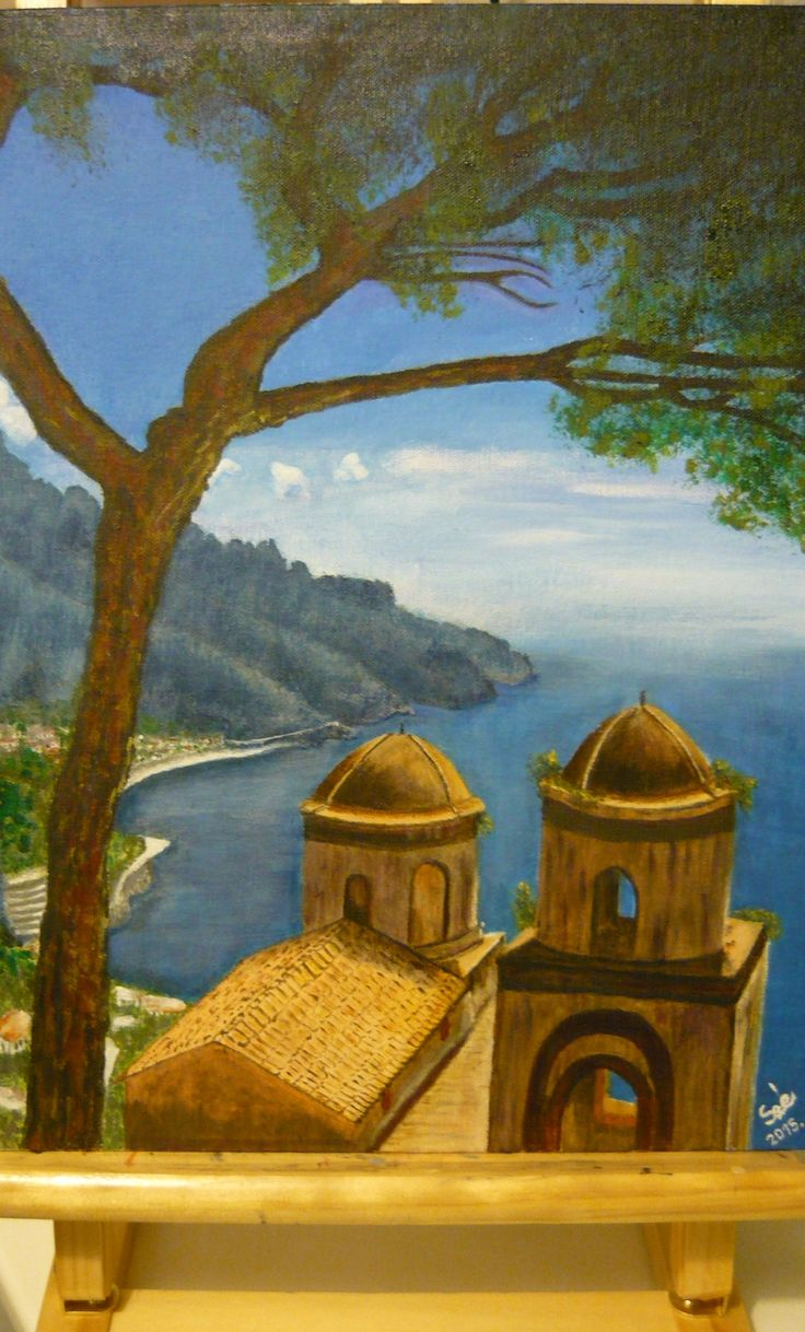 Created by: Kovácsné Sz. Éva - Ravello, Italy - acrylic, 30x40 cm canvas.Original pinelve: prettyworld.tumblr.com