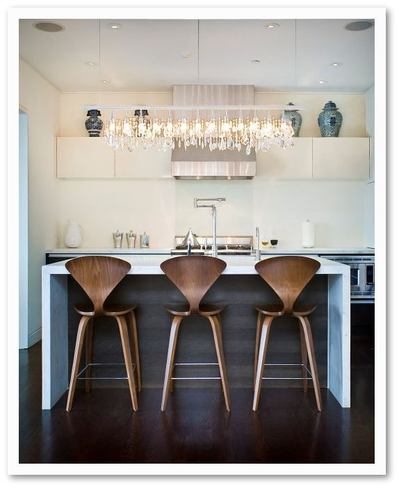 Waterfall Kitchen Island Inspiration: KITCHEN / MODERN GLAM / Lulu Belle Design: TRENDY TUESDAY