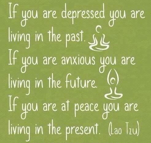 Depressed, anxious, at peace