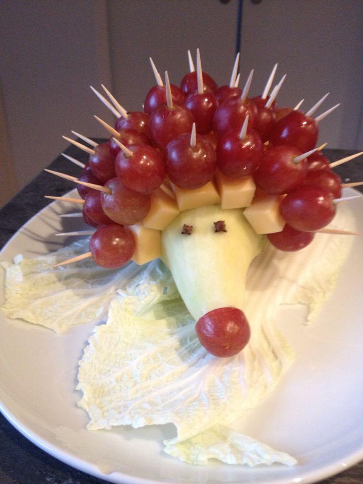 Käse - Trauben Igel für den Kindergarten