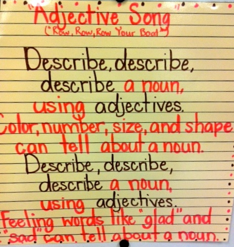 Adjectives to describe singing
