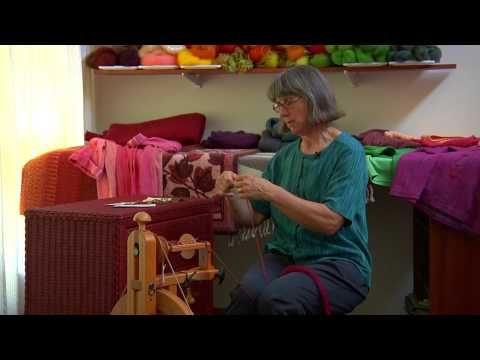 What can you learn from someone who spins all day, every day (except during gardening season), and who produces her own handspun shirts, sweaters, blankets, rugs, table linens, bath towels, aprons, even  gardening shorts Short answer: A lot! Rita Buchanan has spent more thoughtful time preparing fiber, spinning yarn, and making fabrics from her handspun than perhaps anyone in the developed world.~  I want to be just like Rita or at the least her next door neighbor.