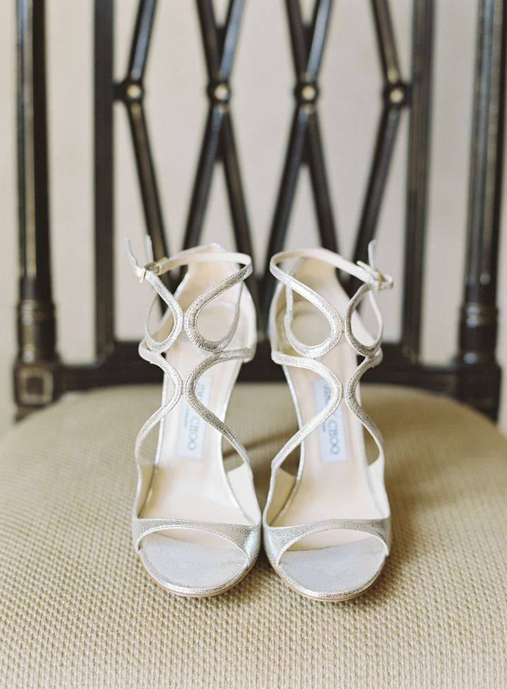 Strappy silver Jimmy Choo heeled sandals - perfect for an elegant wedding  (Virgil Bunao)