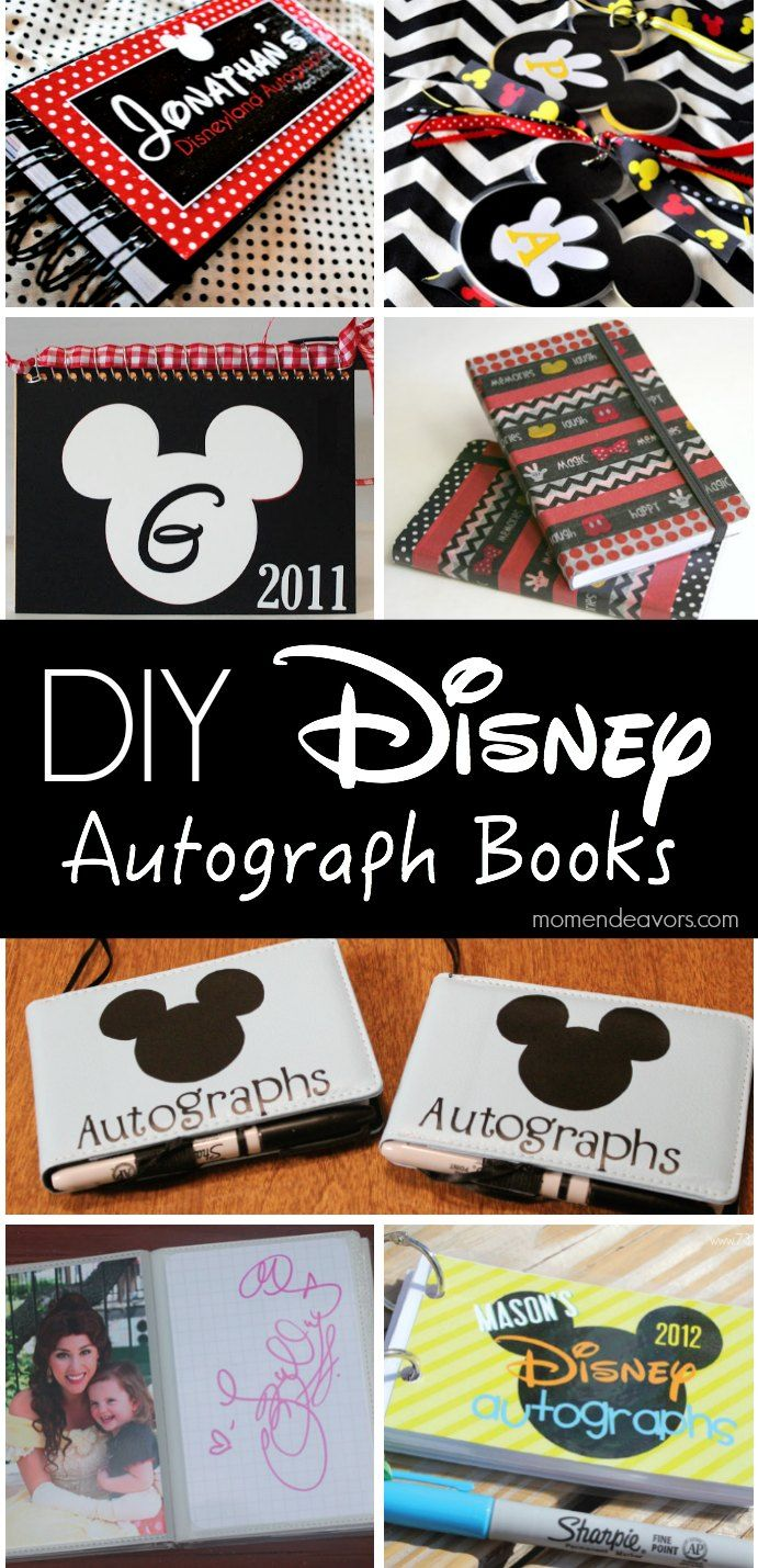 Creative DIY Disney Autograph Books -great ideas to make for the kids for your next Disney trip!