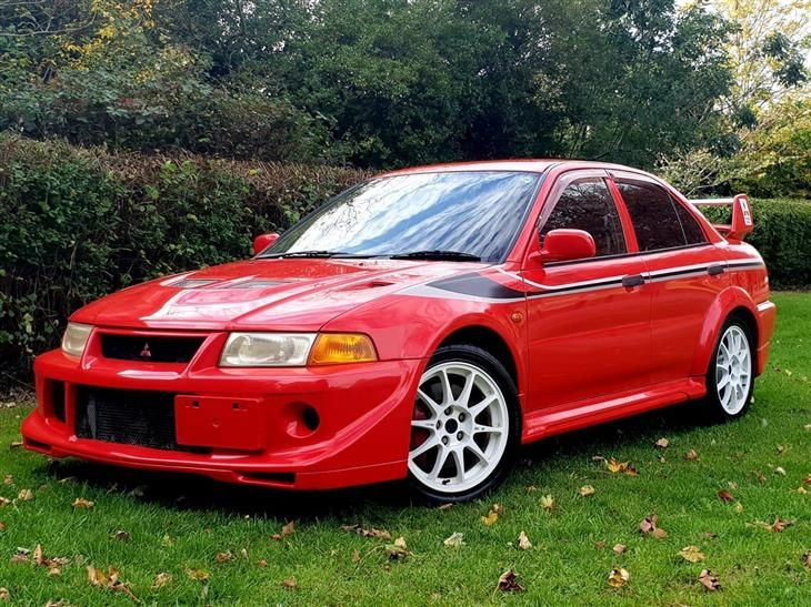 Classic Mitsubishi Lancer Evo 6 5 Tme Passion Red F For Sale Classic Sports Car Ref West Midl Mitsubishi Evo Mitsubishi Lancer Mitsubishi Evolution